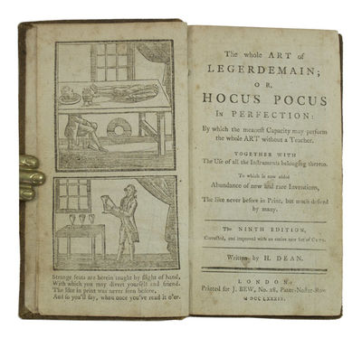 A Scarce Edition of This Book of Magic and Conjuring . DEAN, Henry. The Whole Art of Legerdemain: or...