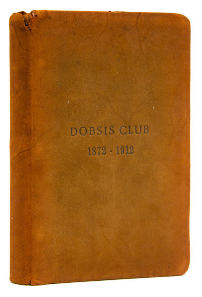 np, 1912. , 60 pp of typewritten text, with a hand-drawn map of the Club property on the Dobsis Stre...