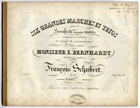 [D. 819]. Six Grandes Marches et Trios pour le Pianoforte à quatre mains composé et dediées en marque de reconnaissance à son ami Monsieur I. Bernhardt ... Op. 40. Cahier [1-2]