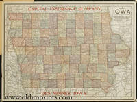 Pocket Map of Iowa.  (Map title: Map of Iowa).