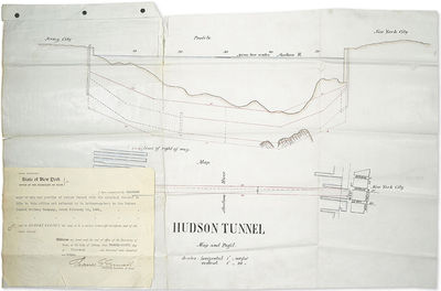 [Profile of the first tunnel under...