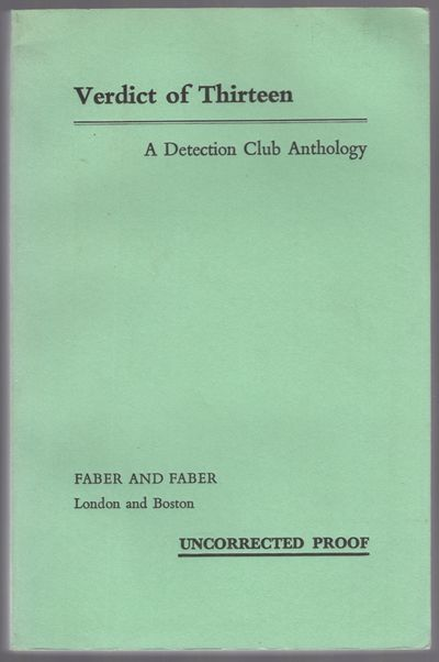 London: Faber and Faber, 1979. Softcover. Good. Uncorrected proof. Printed pale green wrappers. Stai...