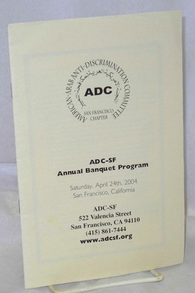 San Francisco: American-Arab Anti-Discrimination Committee, 2004. , 5.5x8.5 inch staplebound booklet...
