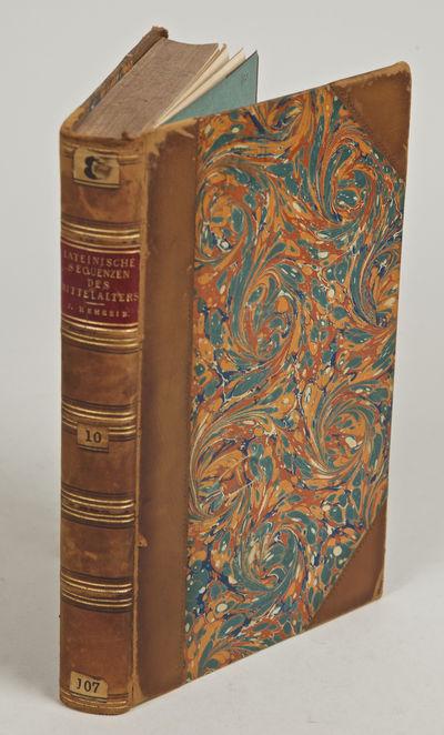 Mainz: Florian Kupferberg, 1873. Hardcover. Very Good. Octavo. Half calf, marbled boards; raised ban...