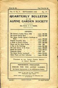 image of Quarterly Bulletin of the Alpine Garden Society  : Vol. 2 No. 7 September 1934 No 17