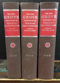 THE NEW GROVE DICTIONARY OF MUSICAL INSTUMENTS. (3 Volumes)