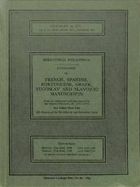 Bibliotheca Phillippica, New Series : Part 6: French, Spanish, Portuguese,  Greek, Yugoslav and Slovanic (Sale Sotheby & Co.(London) 15th-16th June  1970)