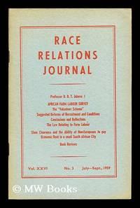 Race Relations Journal: Vol. XXVI: No. 3: July-Sept., 1959