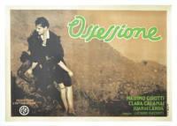 Ossessione [The Postman Always Rings Twice] (Complete set of original 3 Italian Fotobusta posters)