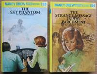 "Nancy Drew Mystery: (grouping) # 53 The Sky Phantom; # 54 The Strange Message in the Parchment; -(two hard cover ""Nancy Drew Mysteries"")-"
