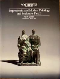 Impressionist and Modern Paintings and Sculpture, Part II (Sotheby's Auction 5325, May, 1985):...