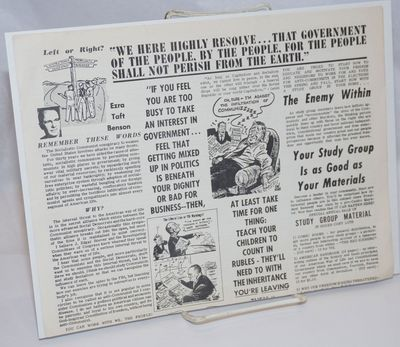 Chicago: We the People, 1964. 11x17 inch broadside printed both sides, with an introductory section ...