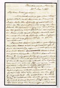 1861 ALS by JR Thomas Christiansand, Norway regarding trip to Chile, typhus fever, stowaway aboard ship & The Great Eastern