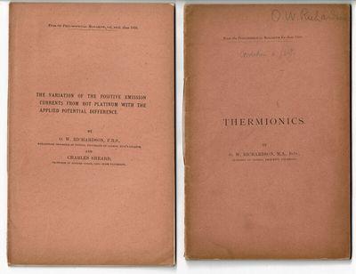 Cambridge, Philadelphia and London, 1902. O. W. Richardson (1879-1959) was a British physicist who w...