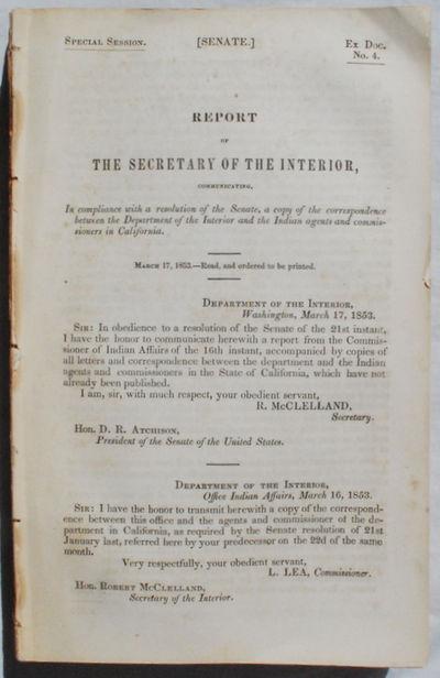 Washington, D.C.:, 1851. Acceptable. Various Publishers, 1851-1855. 8vo. 9 x 5 3/4 inches. Various P...