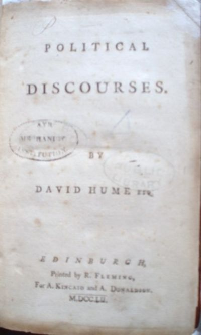 david hume on political discourses of commerce He did not expressly lay out a political philosophy in similar detail, but a  distinctive  perhaps taking a cue from david hume's skepticism about the  capacity of  about the corruption wrought by commerce (dwyer 1987, chapter 7 )  brown, vivienne, 1994, adam smith's discourse, london: routledge.