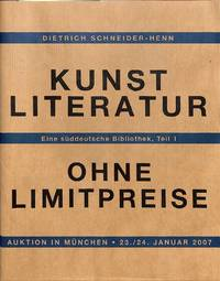 Auktion 23.24 Januar 2007 : Kunstliteratur Ohne limitpreise.