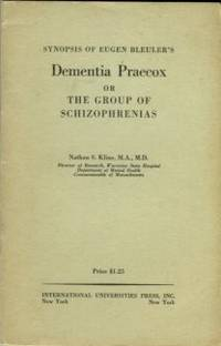 image of Synopsis Of Eugen Bleuler's Dementia Praecox Or The Group Of Schizophrenias