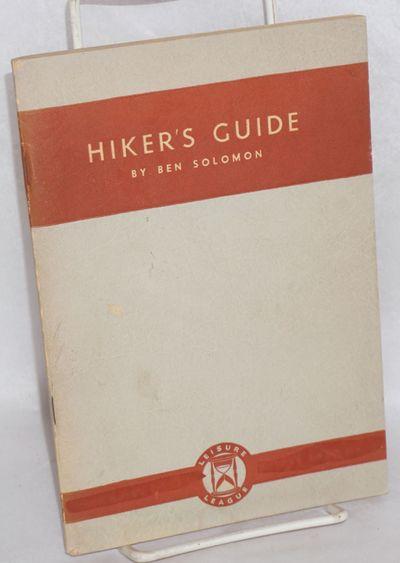 New York: Leisure League of America, 1934. 95p., staplebound 8x5.5 inch printed wraps, slight extern...