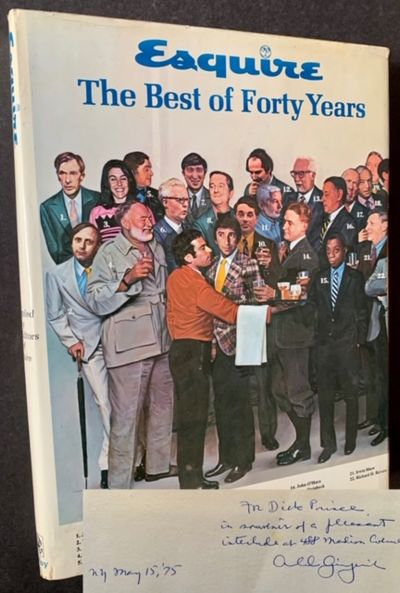 New York: Esquire, Inc, 1973. Cloth. Very Good +/Very Good +. WARMLY INSCRIBED BY ARNOLD GINGRICH (E...