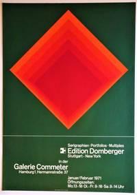 Silkscreen Exhibition Poster: Edition Domberger, Galerie Commeter, Hamburg