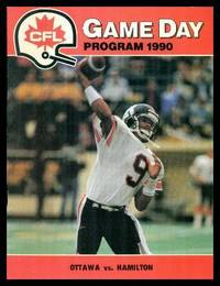 image of CFL GAME DAY PROGRAMS 1990 - HAMILTON TIGER CATS