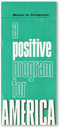 Memo to Congress: A Positive Program for America