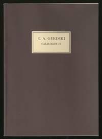 R.A. Gekoski: Catalogue 22: Rare Books and Manuscripts