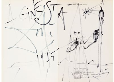 signed by Dalí with an original drawing