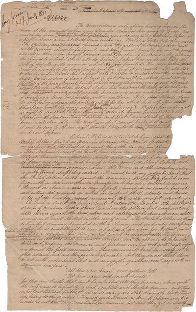 [Autograph Manuscript] British Troops...