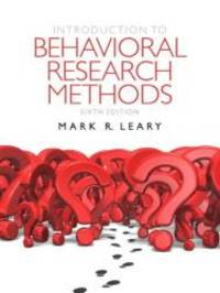 Introduction to Behavioral Research Methods Plus MySearchLab with eText -- Access Card Package (6th Edition) by Mark R. Leary - 2011-03-04