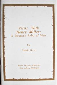 image of Visits With Henry Miller. a Woman's Point of View