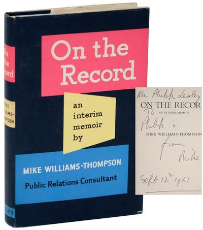 London: Frederick Muller Limited, 1960. First edition. Hardcover. An about near fine copy with some ...