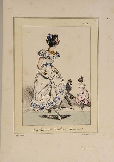Paris: Gihaut Frères, éditeurs, 1825. One of Henry Monnier's Earliest Works Ten Superb Hand-Colore...