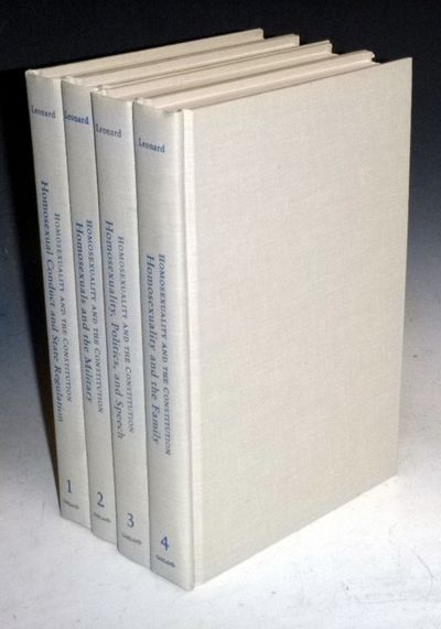 New York: Garland Publishing, 1997. First Edition. Octavo. In 4 Volumes. Vol. 1 Homosexual conduct a...