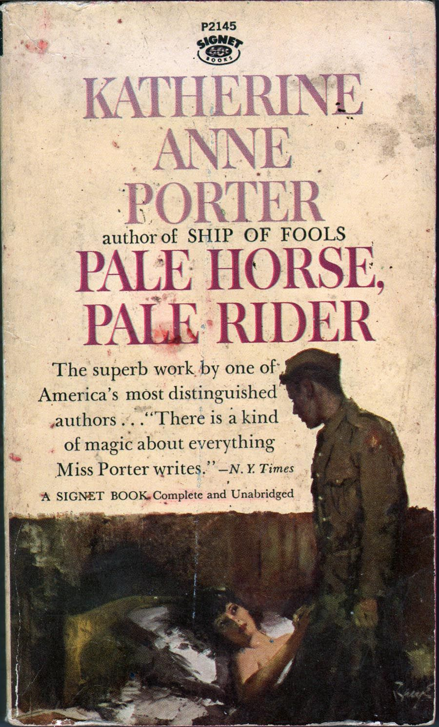 book review pale horse Complete summary of katherine anne porter's pale horse, pale rider  bond  salesperson, an actor whose performance she reviewed negatively, men at the  hospital where she does volunteer work, and  it's not one book, but a collection  of.