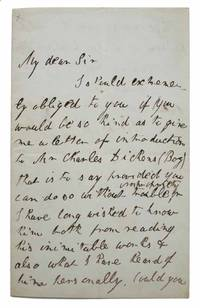 AUTOGRAPH LETTER SIGNED.  Reform Club, Pall Mall.  April 4th, 1843