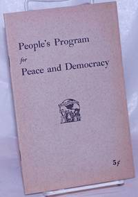 image of People's program for peace and democracy