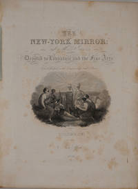 image of The New York Mirror, Volume XVI.  With Banknote Engraving advertisement for Burton & Gurley & Palisades engraving