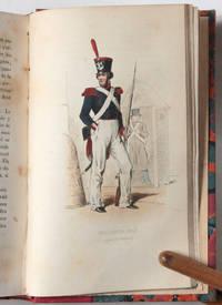 Histoire de la garde nationale, récit complet de tous les faits qui l'ont distinguée depuis son origine jusqu'en 1848. Illustrée par dix dessins coloriés, gravés sur acier, représentant les uniformes de toutes les époques. Dessin et gravure de Pauquet.
