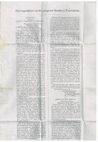 Correspondence on the proposed Southern Convention Mar. 7, 1850 referred to as the Nashville Convention