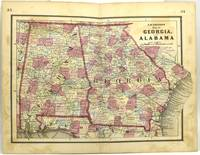 MAP OF GEORGIA AND ALABAMA