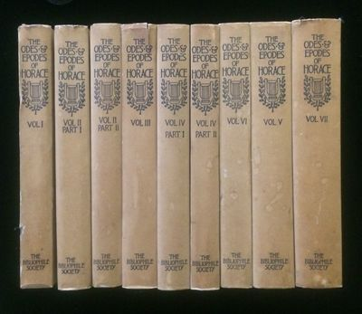 Boston: The Bibliophile Society, 1901. 1st Edition. Hardcover. Very Good+. 7 parts in 9 volumes - or...