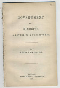 Government by a minority. A letter to a constituent.
