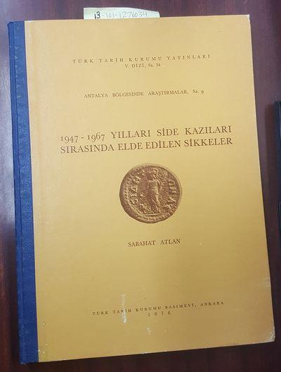 Ankara: Turk Tarih Kurumu Basimevi, 1976. Text in Turkish; Large, thin quarto; G+/no-DJ; Blue spine ...