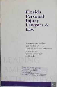 Florida Personal Injury Lawyers & Law by Not_Specified  - Paperback  - 1997-01-01  - from Eco Sales (SKU: 43541)