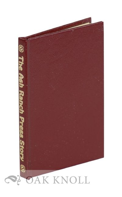 San Diego: Ash Ranch Press, 1987. leather, title gilt-stamped on spine. Miniature Books. miniature b...