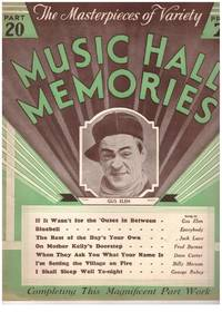 image of MUSIC HALL MEMORIES. 7 Parts of 20. # Edges browned, all pages uniformly 3, 6, 13, 14, 16, 18, 20