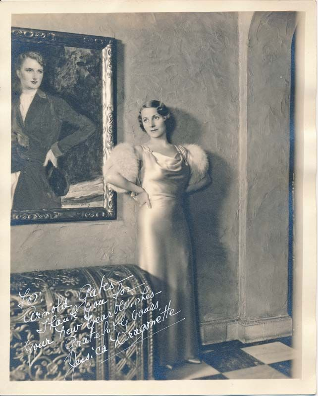 Inscribed Photograph Signed By Jessica 1900 80