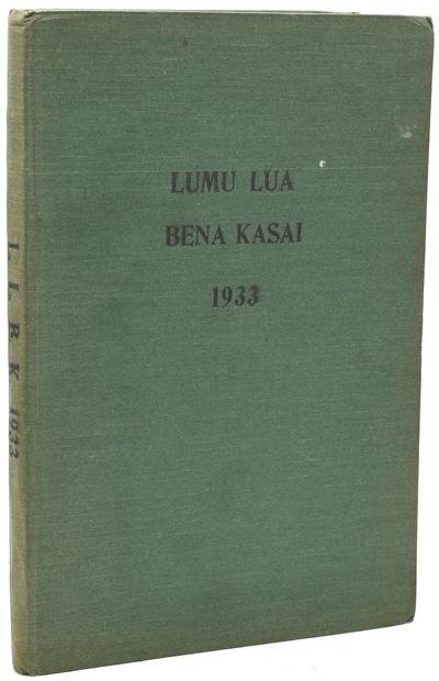Luebo, Congo Belge: American Presbyterian Congo Mission, 1933. Hard Cover. Very Good binding. The 19...